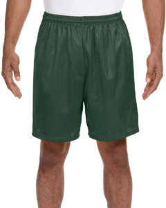 Forest Green Adult Seven Inch Inseam Mesh Short