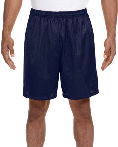 Navy Adult Seven Inch Inseam Mesh Short