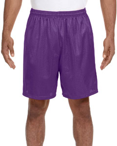 Purple Adult Seven Inch Inseam Mesh Short