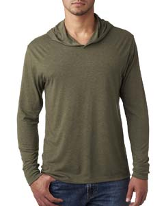 Military Green Unisex Triblend Long-Sleeve Hoodie