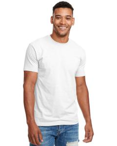 White Men's Premium Fitted CVC Crew Tee