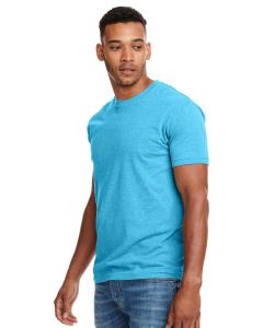 Bondi Blue Men's Premium Fitted CVC Crew Tee