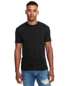 Black Men's Premium Fitted CVC Crew Tee