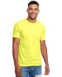 Neon Yellow Men's Premium Fitted CVC Crew Tee