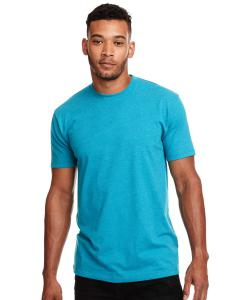 Tahiti Blue Men's Premium Fitted CVC Crew Tee