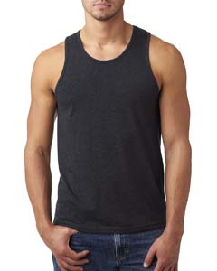 Charcoal Men's Premium Fitted CVC Tank
