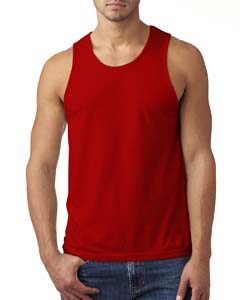 Red Men's Premium Fitted CVC Tank