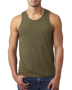 Military Green Men's Premium Fitted CVC Tank