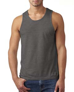 Dark Hthr Gray Men's Premium Fitted CVC Tank
