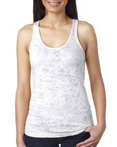 White Ladies' Burnout Racerback Tank