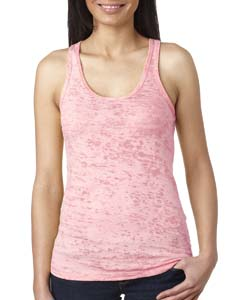 Light Pink Ladies' Burnout Racerback Tank