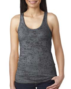 Dark Gray Ladies' Burnout Racerback Tank