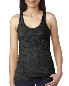 Black Ladies' Burnout Racerback Tank