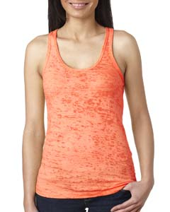 Neon Orange Ladies' Burnout Racerback Tank