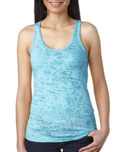 Tahiti Blue Ladies' Burnout Racerback Tank