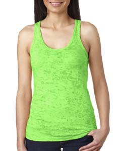 Neon Green Ladies' Burnout Racerback Tank