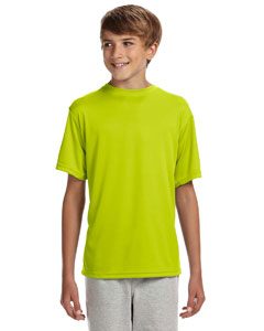 Safety Yellow Youth Cooling Performance T-Shirt