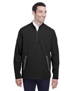 Black/ Carbon Mens Quest Stretch Quarter-Zip