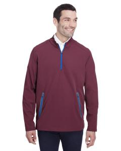 Burgndy/ Oly Blu Mens Quest Stretch Quarter-Zip