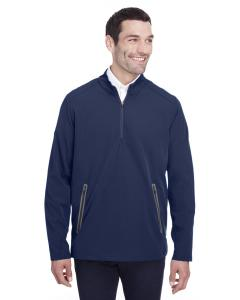 Classc Nvy/ Crbn Mens Quest Stretch Quarter-Zip