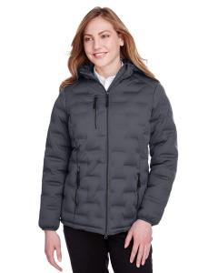 Carbon/ Black Ladies' Loft Puffer Jacket