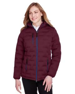 Burgndy/ Oly Blu Ladies' Loft Puffer Jacket