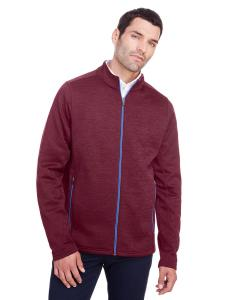 Burg Hth/ Oly Bl Men's Flux 2.0 Full-Zip Jacket