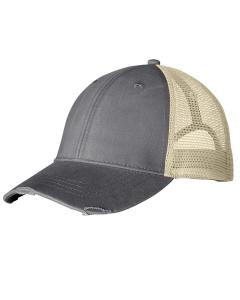 Charcoal/ Tan Distressed Ollie Cap