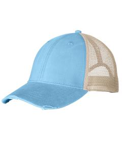 Baby Blue/ Tan Distressed Ollie Cap