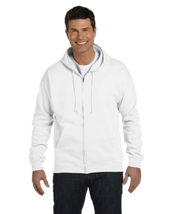 White Adult 7.8 oz. EcoSmart® 50/50 Full-Zip Hood