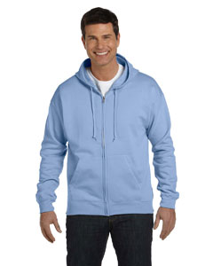 Light Blue Adult 7.8 oz. EcoSmart® 50/50 Full-Zip Hood