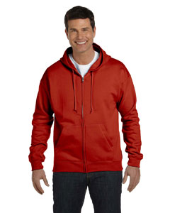 Deep Red Adult 7.8 oz. EcoSmart® 50/50 Full-Zip Hood