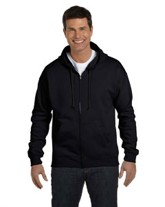 Black Adult 7.8 oz. EcoSmart® 50/50 Full-Zip Hood