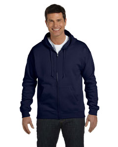 Navy Adult 7.8 oz. EcoSmart® 50/50 Full-Zip Hood