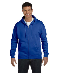 Deep Royal Adult 7.8 oz. EcoSmart® 50/50 Full-Zip Hood