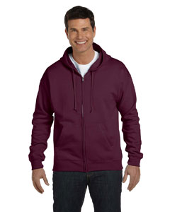 Maroon Adult 7.8 oz. EcoSmart® 50/50 Full-Zip Hood
