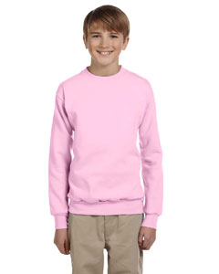 Pale Pink Youth 7.8 oz. ComfortBlend® EcoSmart® 50/50 Fleece Crew