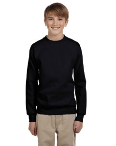 Black Youth 7.8 oz. ComfortBlend® EcoSmart® 50/50 Fleece Crew