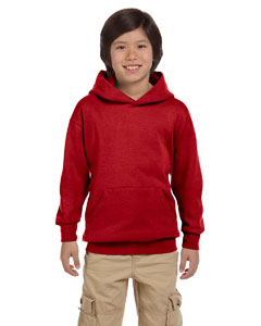 Deep Red Youth 7.8 oz. ComfortBlend® EcoSmart® 50/50 Pullover Hood