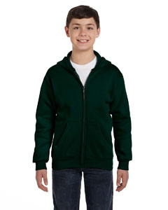 Deep Forest Youth 7.8 oz. ComfortBlend® EcoSmart® 50/50 Full-Zip Hood