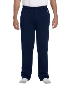 Navy Adult 9 oz. Double Dry Eco® Open-Bottom Fleece Pant with Pockets