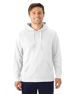 White Adult 6 oz. DRI-POWER® SPORT Hooded Sweatshirt