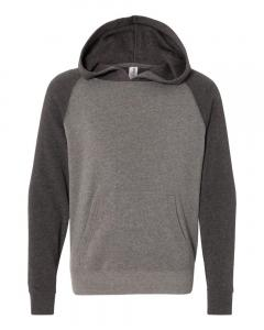 Nickel/ Carbon Youth Special Blend Raglan Hooded Sweatshirt