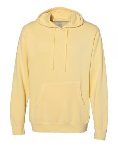 Pigment Yellow Heavyweight Pigment-Dyed Hooded Sweatshirt