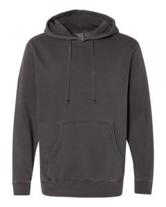 Pigment Black Heavyweight Pigment-Dyed Hooded Sweatshirt