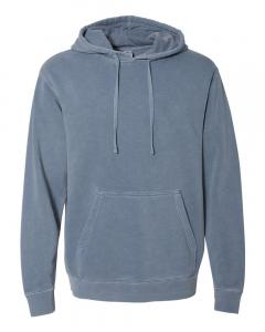 Pigment Slate Blue Heavyweight Pigment-Dyed Hooded Sweatshirt