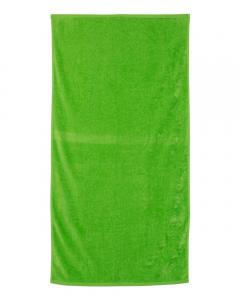 Lime Velour Beach Towel