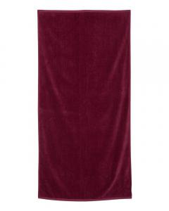 Maroon Velour Beach Towel
