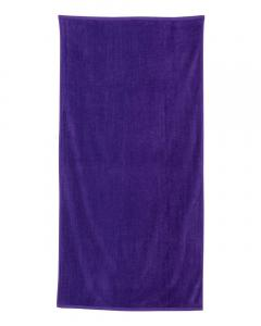 Purple Velour Beach Towel