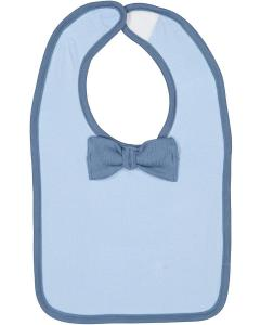 Lt Blue/ Indigo Infant Bow Tie Bib